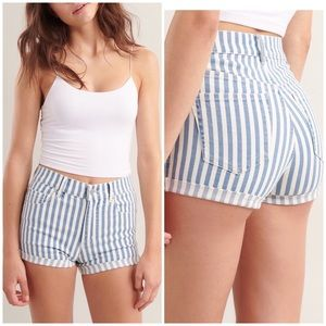 RETRO HIGH RISE DENIM SHORTS by GARAGE